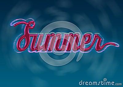 Sommer-Typografie-Auslegung