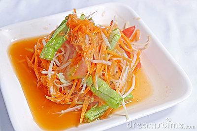 Somtum, papaya and carrot salad