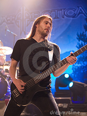 Sonata Arctica band perform on Budapest Editorial Photography