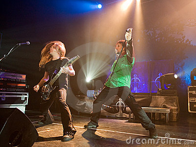 Sonata Arctica band perform on Budapest Editorial Photo