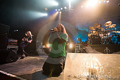 Sonata Arctica band perform on Budapest Editorial Stock Image