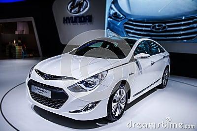 Sonata car of Hybrid Editorial Photo