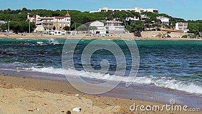 Sonderkommando von Costa Brava, Bucht La Fosca stock video