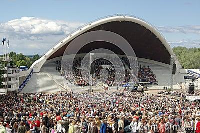 Song and Dance Celebration in Tallinn Estonia Editorial Photo