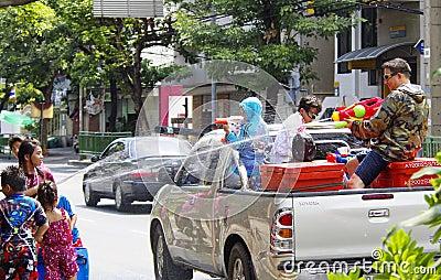 Songkarn Thai new year - water festival Editorial Image
