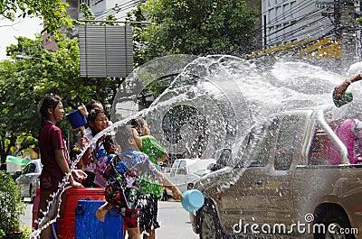 Songkarn Thai new year - water festival Editorial Stock Image