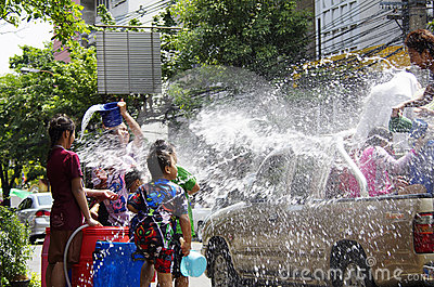 Songkarn Thai new year - water festival Editorial Stock Image
