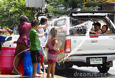 Songkarn Thai new year - water festival Editorial Image