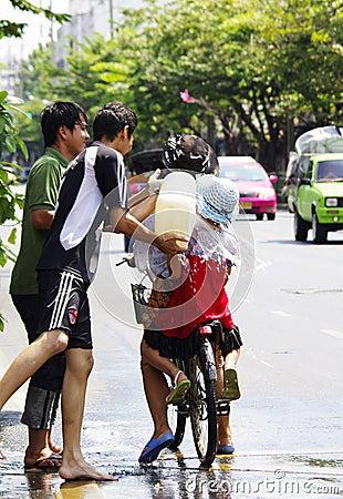 Songkarn Thai new year - water festival Editorial Photo