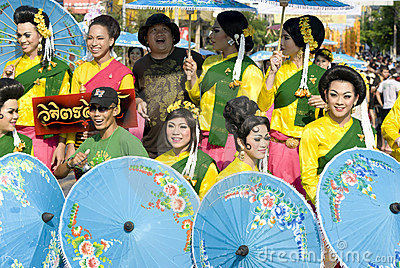 Songkraan New Year Festival, Thailand 2008 Editorial Stock Image
