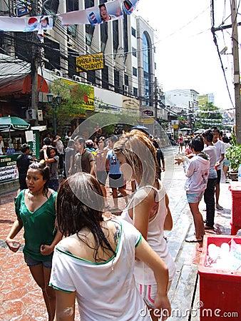Songkran festival, Bangkok, Thailand. Editorial Photography