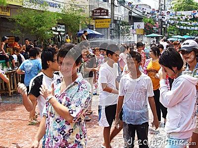 Songkran festival, Bangkok, Thailand. Editorial Image