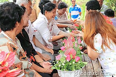 Songkran Festival Editorial Stock Photo
