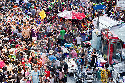 Songkran new year festival Editorial Image