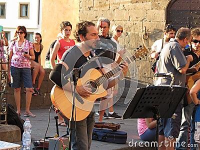Songwriter and singer Claudio Spadi Editorial Stock Image