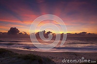 Sonnenaufgang in Geburts- Brasilien