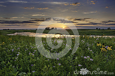 Sonnenuntergang über Illinois