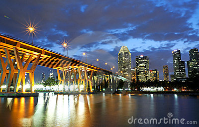 Sonnenuntergang an der Brücke auf CBD