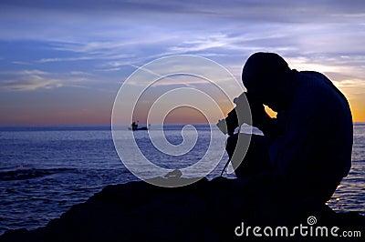 Sonnenuntergang-Fotograf II