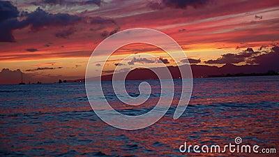 Sonnenuntergang am Meer stock footage