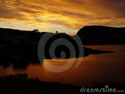 Sonnenuntergang in Neufundland