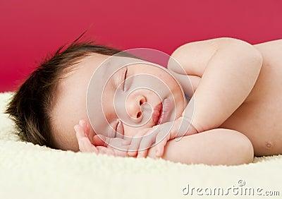 Sonno appena nato del bambino