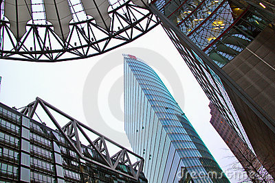 Sony Center, Berlin Editorial Stock Image