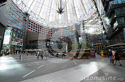 Sony Center. Berlin Editorial Stock Image