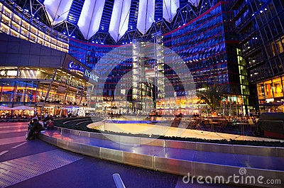 Sony Center in Berlin Editorial Stock Image