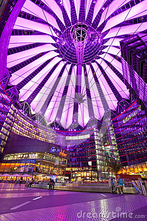 Sony Center in Berlin, Germany Editorial Image