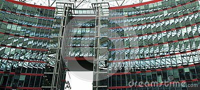 Modern Architecture at Sony Center, Berlin, German