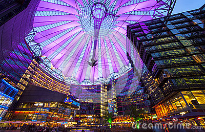 Sony Center Berlin Stock Photo