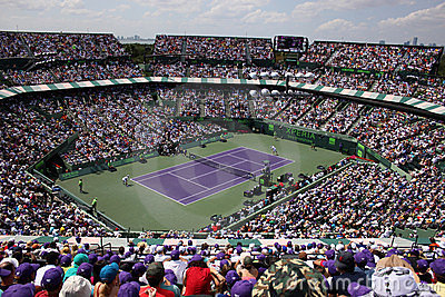 Sony Ericsson Open in Miami, Florida Editorial Image
