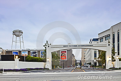 Sony Pictures Entertainment Studio Main Gate Editorial Image