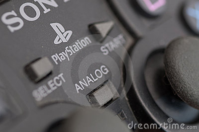 Sony Playstation controller Editorial Stock Photo
