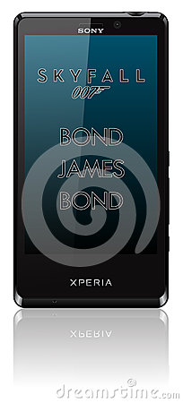 Sony Xperia T Skyfall mobile Editorial Photo