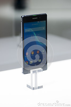 SONY XPERIA Z2, MOBILE WORLD CONGRESS 2014 Editorial Image