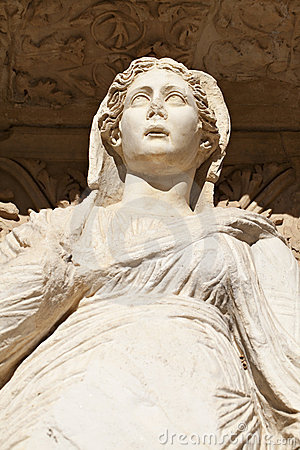 Sophia Goddess Of Wisdom Ancient Statue Stock Photo