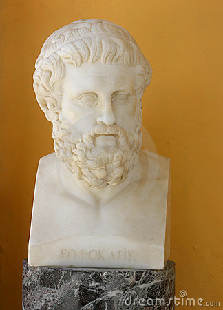 Sophocles bust Editorial Stock Image