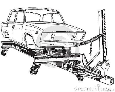 Soporte para la alineación de la carrocería de coche