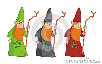 Sorcerer leprechaun magician vector illustration c