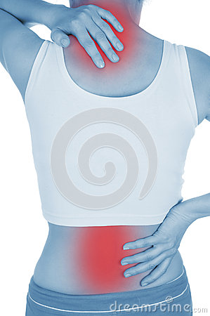 Free Sore Back, Shown Red, Keep Handed Royalty Free Stock Image - 32199606