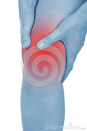 Free Sore Knee, Legs, Shown Red, Keep Handed Stock Images - 32198734