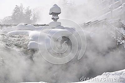 Sorgente calda Giappone di Kusatsu