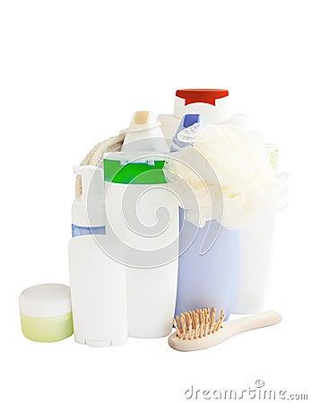 Sorgfalt und Badezimmerprodukte