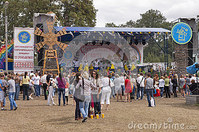 Sorochinskaya Fair- festival. Editorial Stock Photo