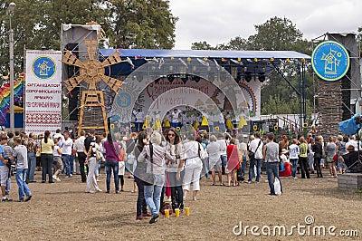 Sorochinskaya Fair- festival. Editorial Stock Photo