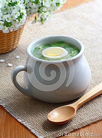 Sorrel soup.