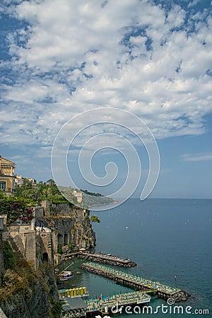 Sorrento coast, Italy Editorial Image