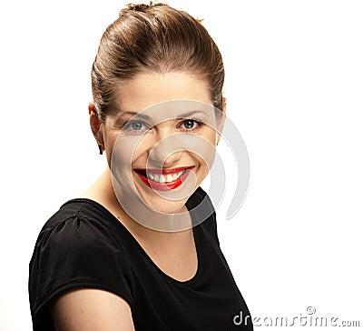Sorriso toothy grande.